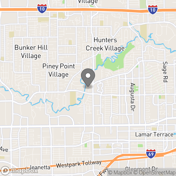 Map in Houston, Texas for Kimberley Stanton therapy location.