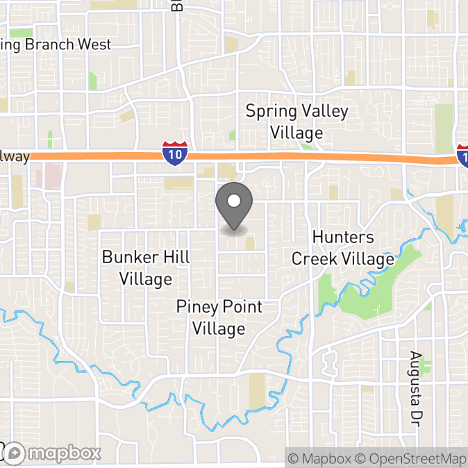 Map in Houston, Texas for Alexa Shank therapy location.