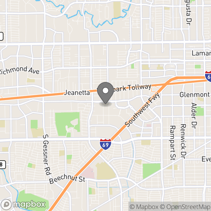 Map in Houston, Texas for Ayowole Adeoti therapy location.