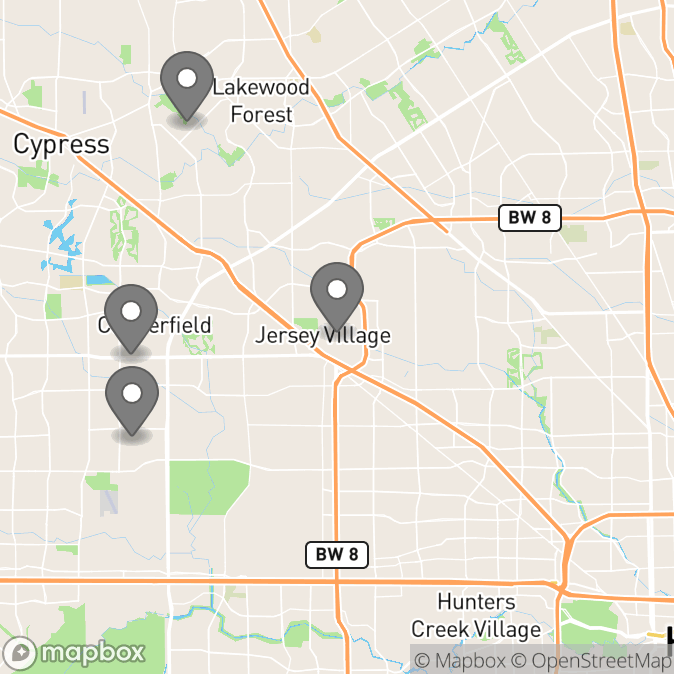 Map in Houston, Texas for Ekow Kwakye therapy location.