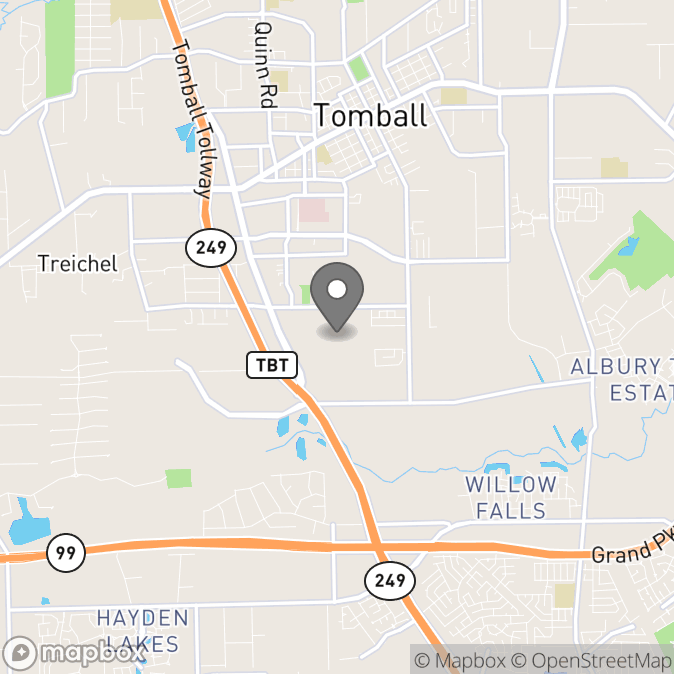 Map in Tomball, Texas for Joy Sumrall therapy location.