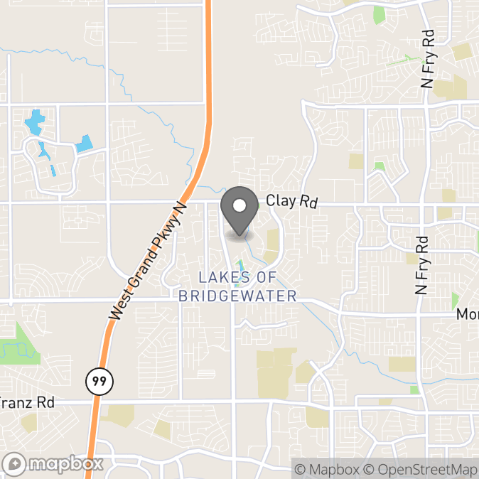 Map in Katy, Texas for Torrenzo Moore therapy location.