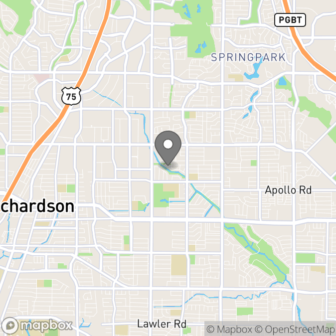 Map in Richardson, Texas for Michael Wilson therapy location.