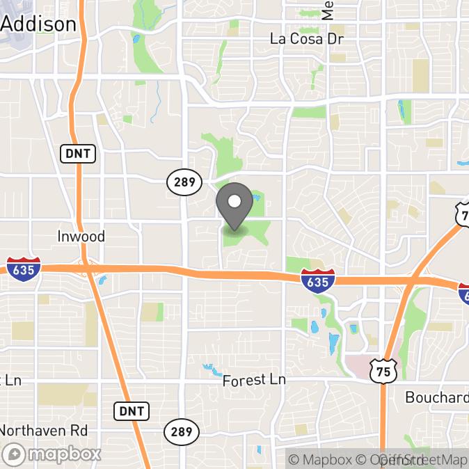 Map in Dallas, Texas for Brandi Smith therapy location.