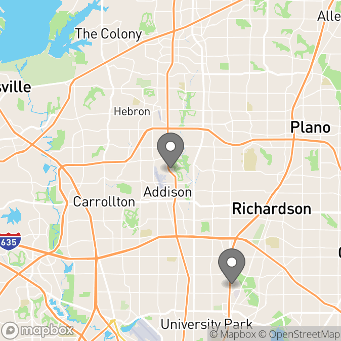 Map in Dallas, Texas for Jeremy Edge therapy location.