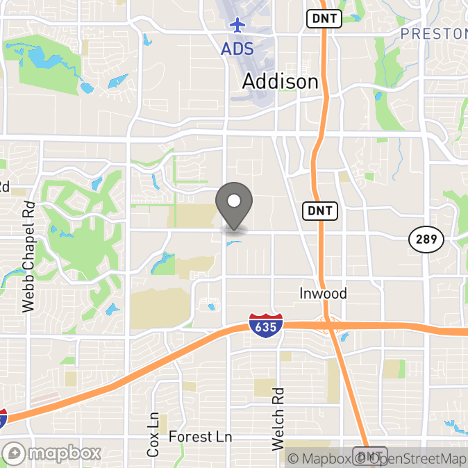 Map in Dallas, Texas for Kimberly Berry therapy location.