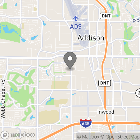 Map in Addison, Texas for Joseph Harris therapy location.