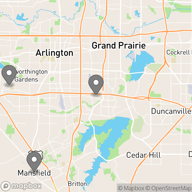 Map in Grand Prairie, Texas for Melissa Zawisza therapy location.