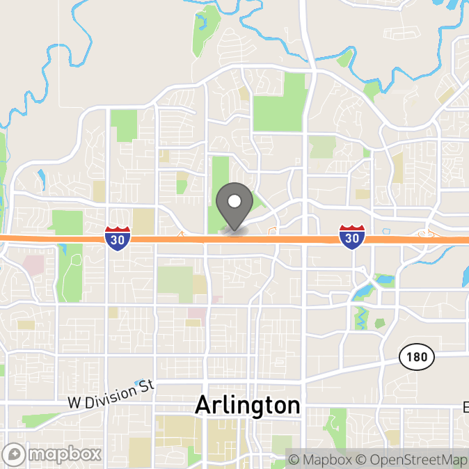 Map in Arlington, Texas for Felicia Henderson therapy location.