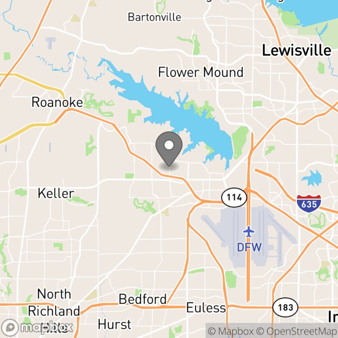 Map in Southlake, Texas for Jason Allen therapy location.