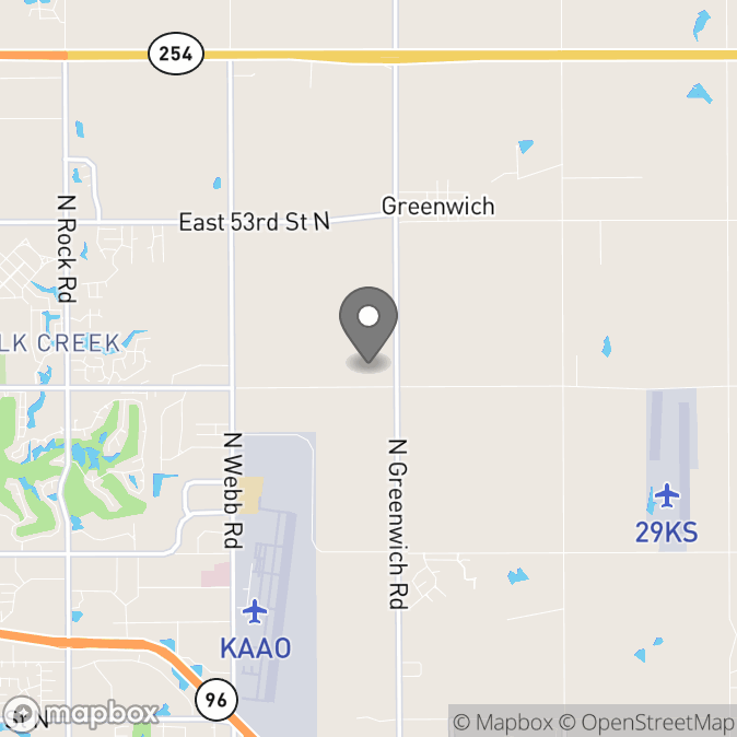 Map in Wichita, Kansas for Megan  Couey therapy location.