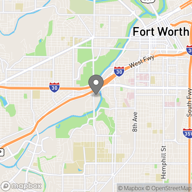 Map in Fort Worth, Texas for Desi Richardson therapy location.