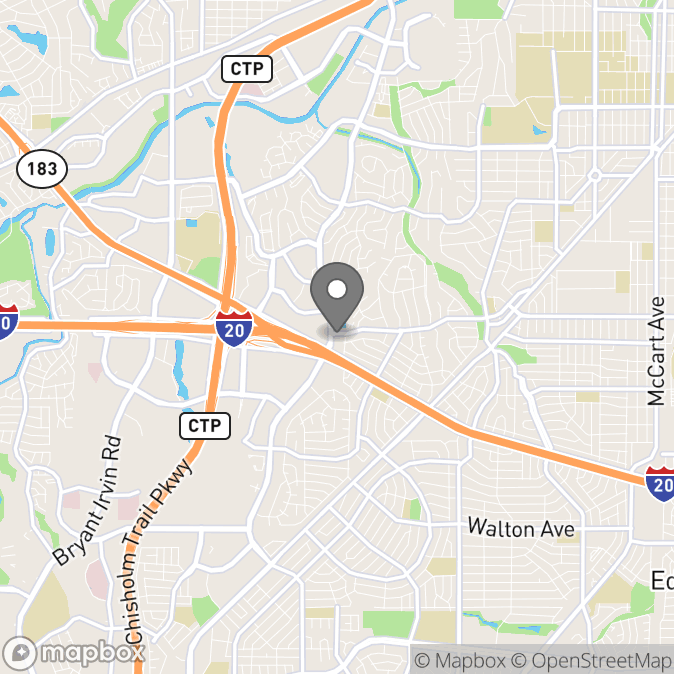Map in Fort Worth, Texas for Dr. Kathryn Soule, PhD, LPC therapy location.