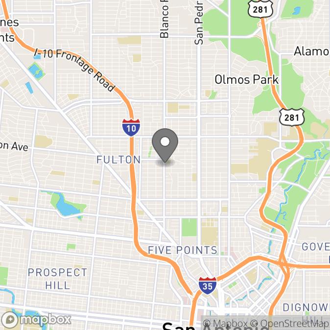 Map in San Antonio, Texas for Alyssa Cedillo therapy location.