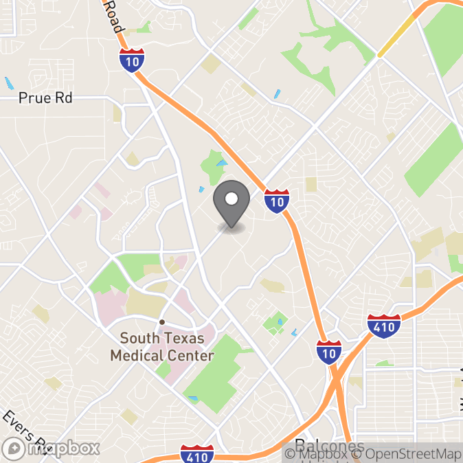 Map in San Antonio, Texas for Eric Powell therapy location.