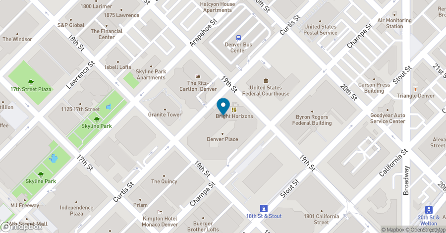 Map of 999 18th Street in Denver