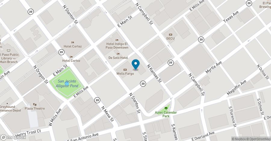 Map of 221 N Kansas Street in El Paso
