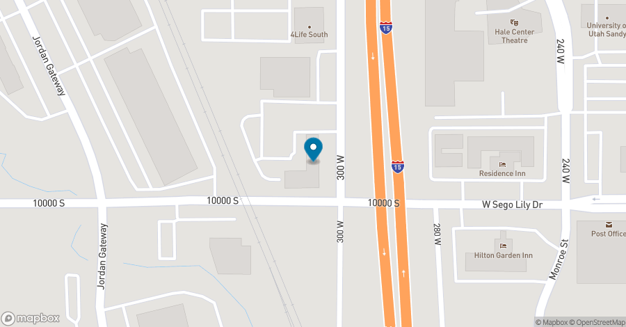 Map of 9980 South 300 West in Sandy