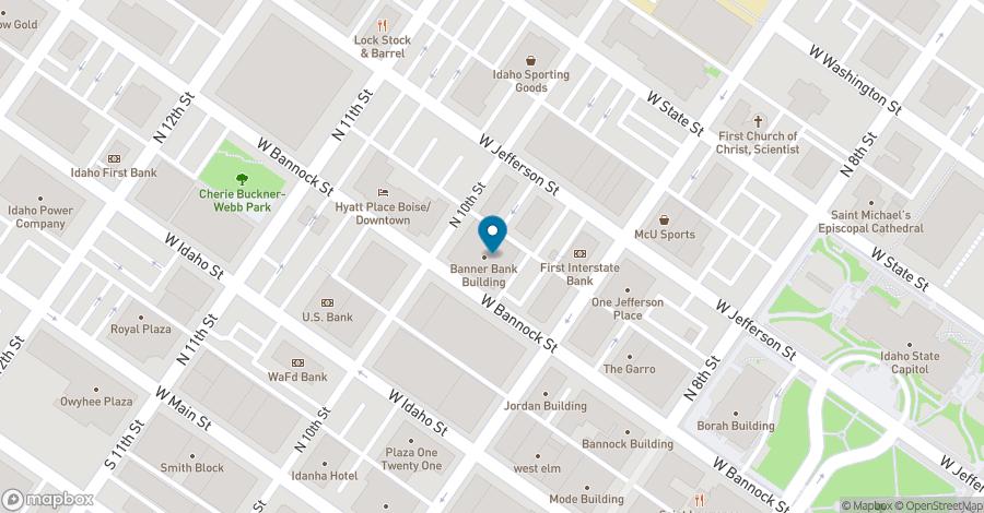 Map of 950 Bannock Street in Boise