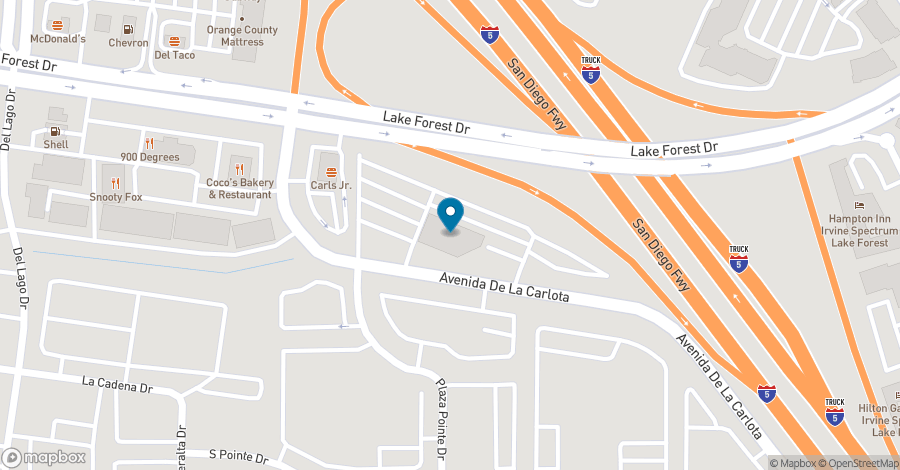 Map of 23046 Avenida De La Carlota in Laguna Hills