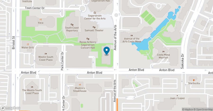 Map of 600 Anton Boulevard in Costa Mesa