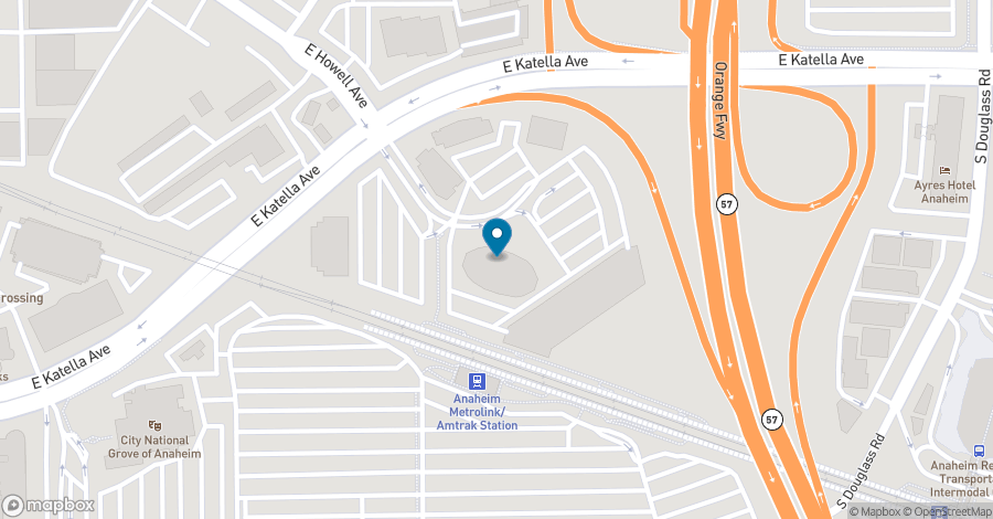 Map of 2400 East Katella in Anaheim