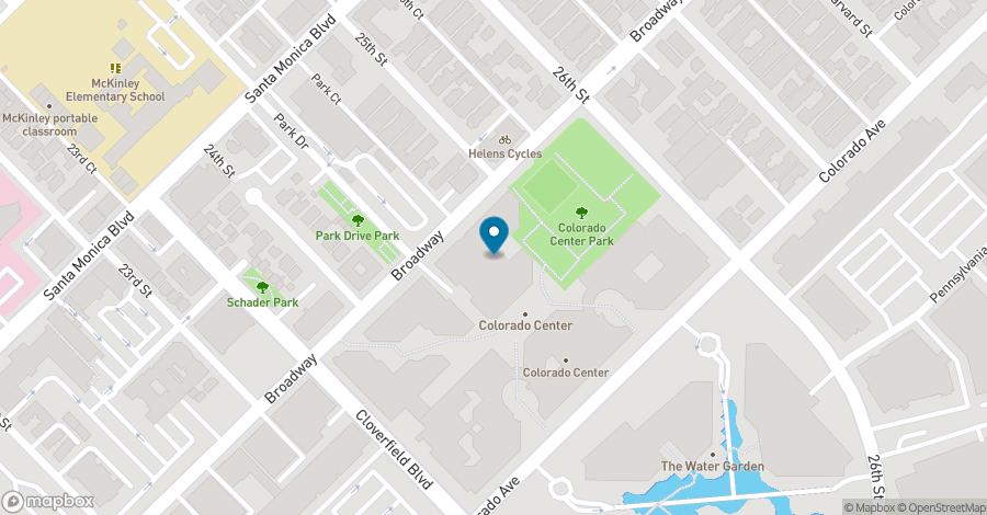 Map of 2500 Broadway in Santa Monica