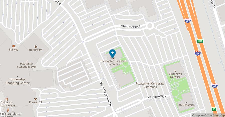 Map of 6200 Stoneridge Mall Road in Pleasanton