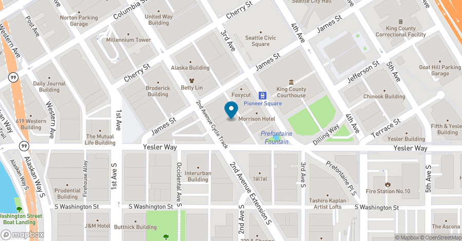 Map of 506 Second Avenue in Seattle