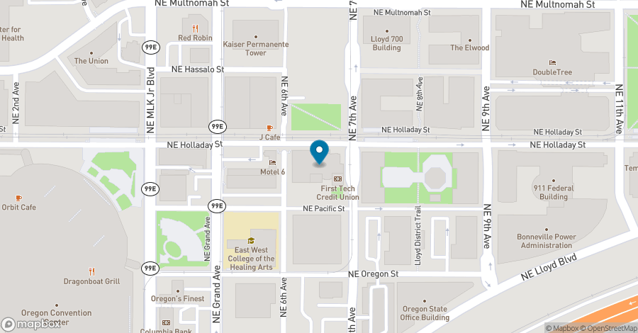 Map of 650 N. E. Holladay Street in Portland