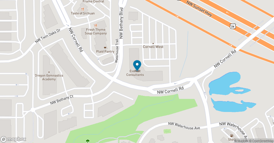 Map of 1500 NW Bethany Blvd in Beaverton
