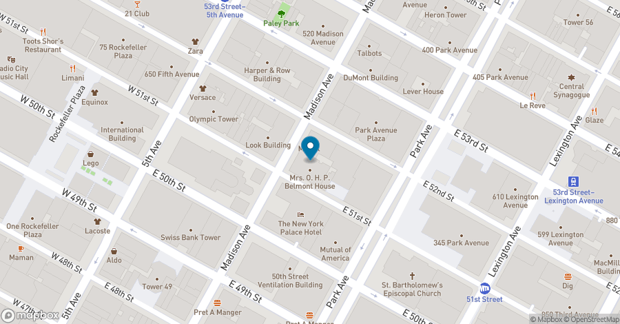 Map of 477 Madison Avenue in New York