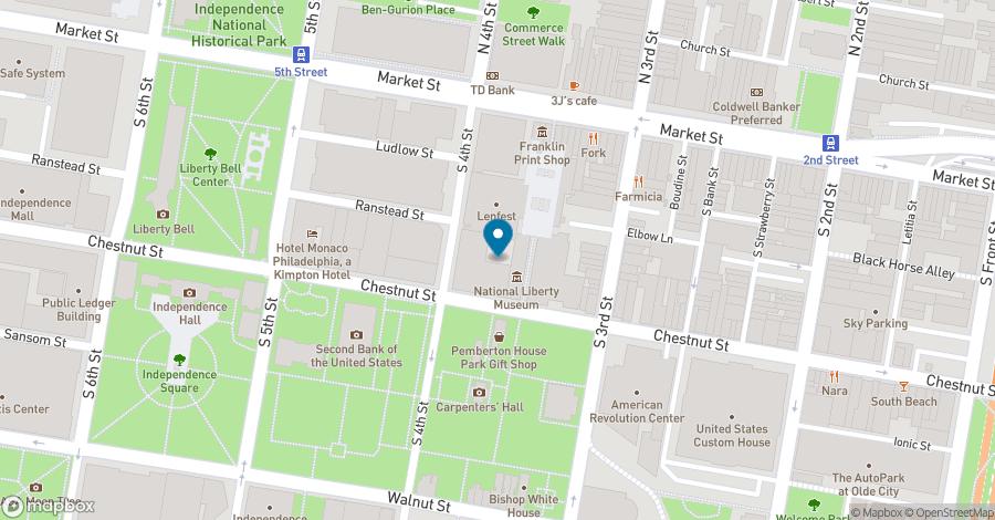 Map of 325-41 Chestnut Street in Philadelphia