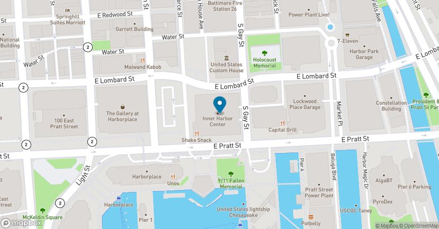 Map of 400 East Pratt Street in Baltimore