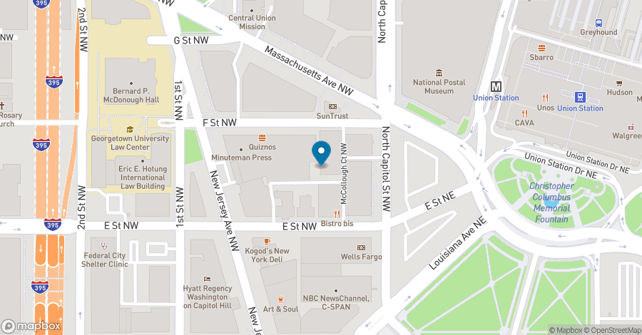 Map of 20 F Street NW in Washington
