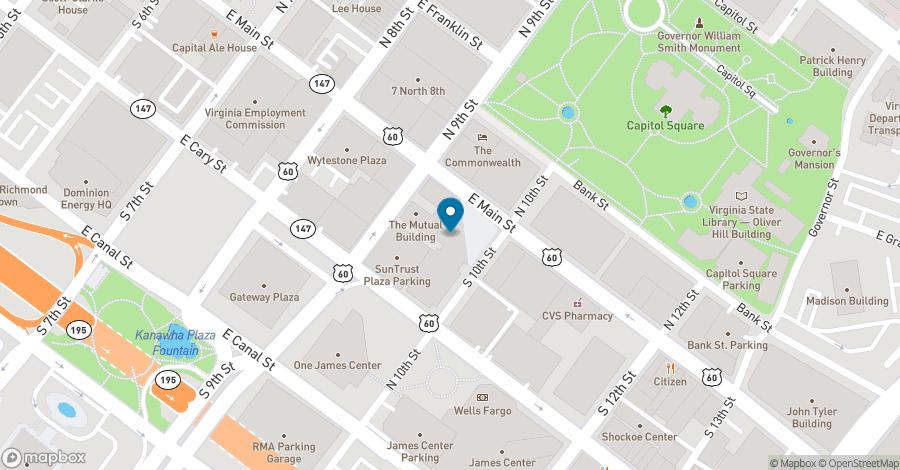 Map of 919 E. Main Street in Richmond