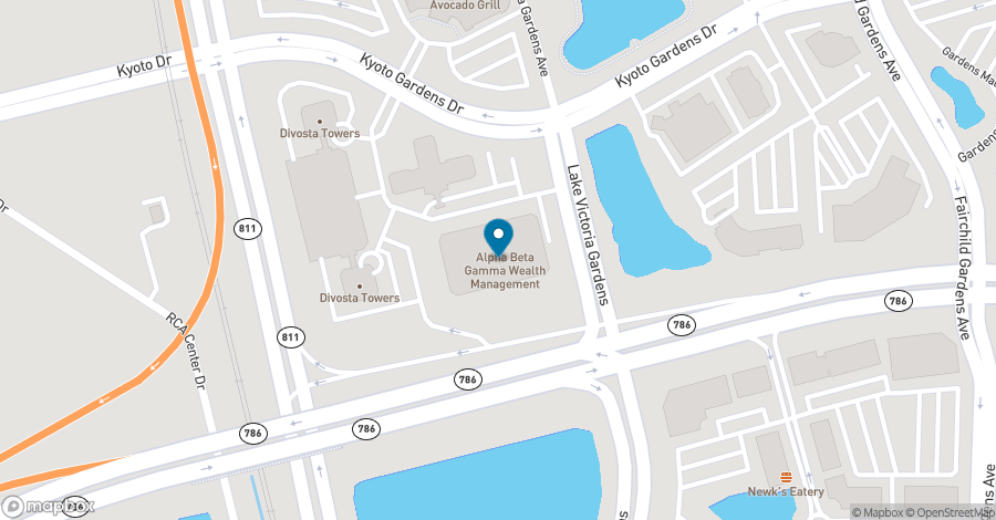 Map of 3801 PGA Boulevard in Palm Beach Gardens
