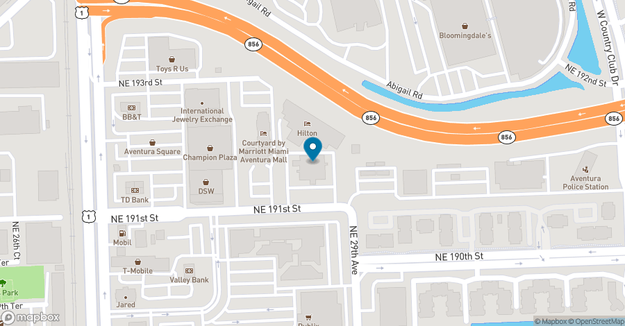 Map of 2875 NE 191 Street in Aventura