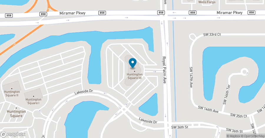 Map of 3350 SW 148th Avenue in Miramar