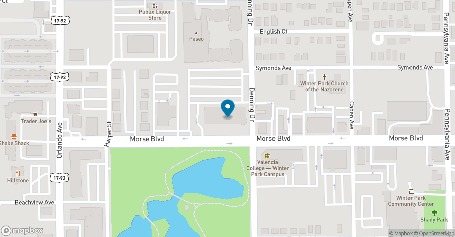 Map of 941 West Morse Boulevard in Winter Park
