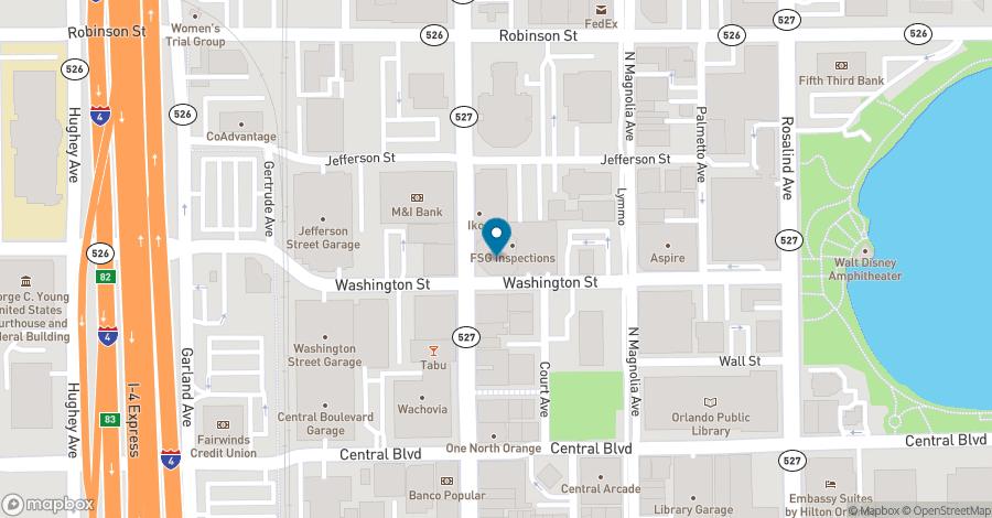 Map of 111 North Orange Avenue in Orlando