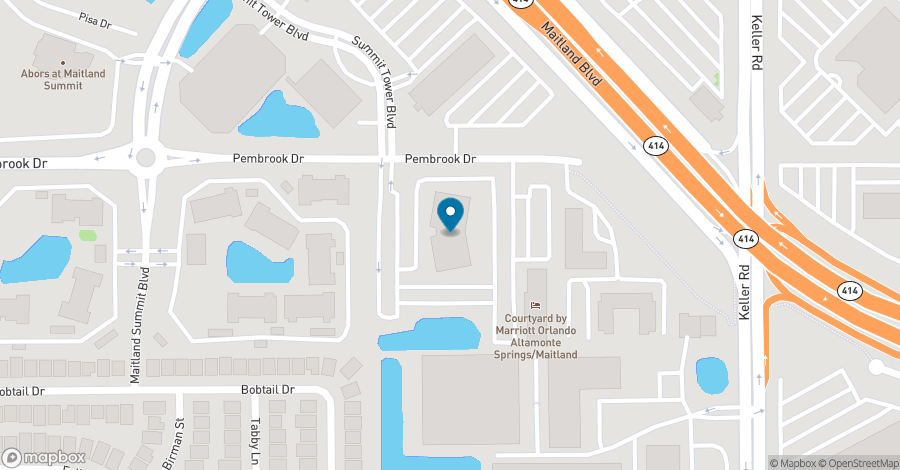 Map of 1800 Pembrook Drive in Orlando