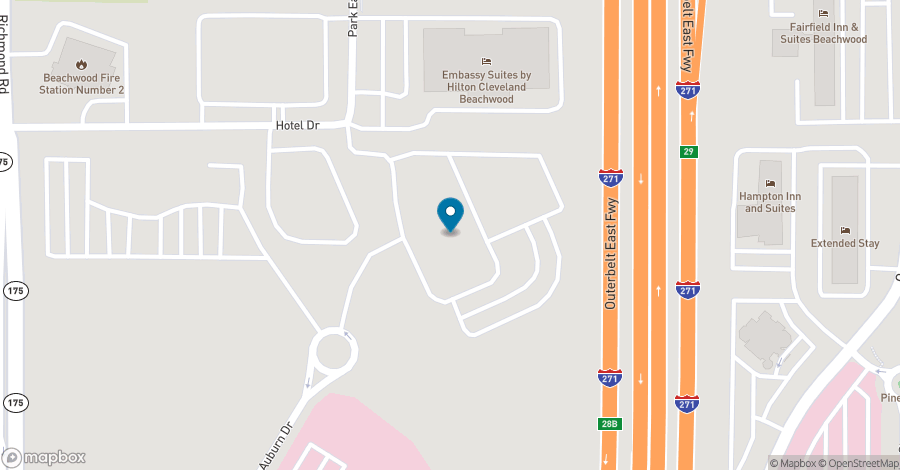 Map of 2000 Auburn Drive in Beachwood