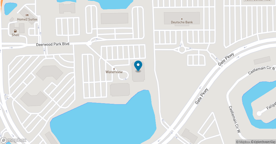 Map of 10752 Deerwood Park Boulevard in Jacksonville