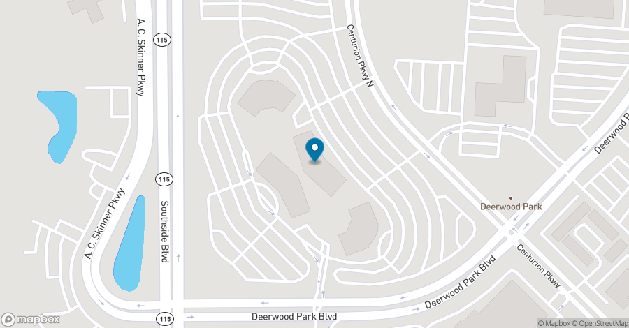 Map of 10151 Deerwood Park Blvd in Jacksonville