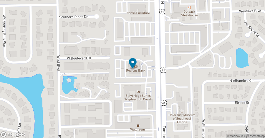 Map of 4851 Tamiami Trail N in Naples