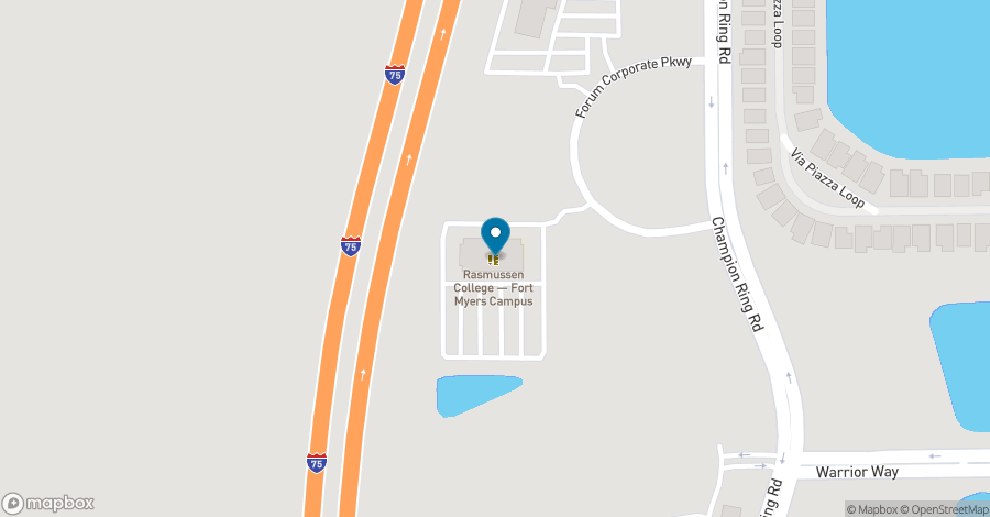 Map of 9160 Forum Corporate Parkway in Ft. Myers