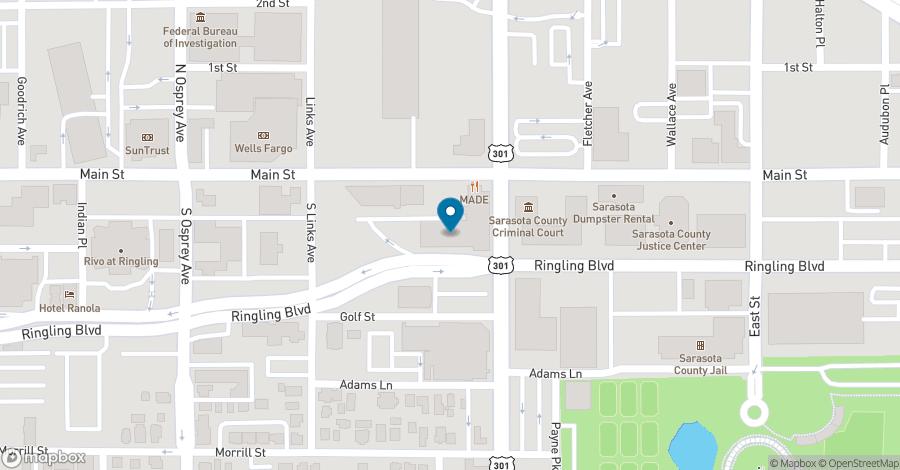 Map of 1990 Main Street in Sarasota