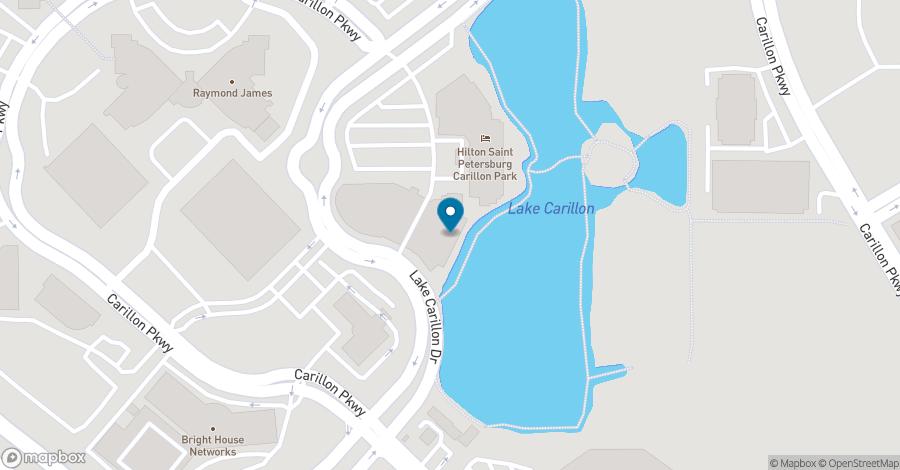 Map of 970 Lake Carillon Drive in Saint Petersburg