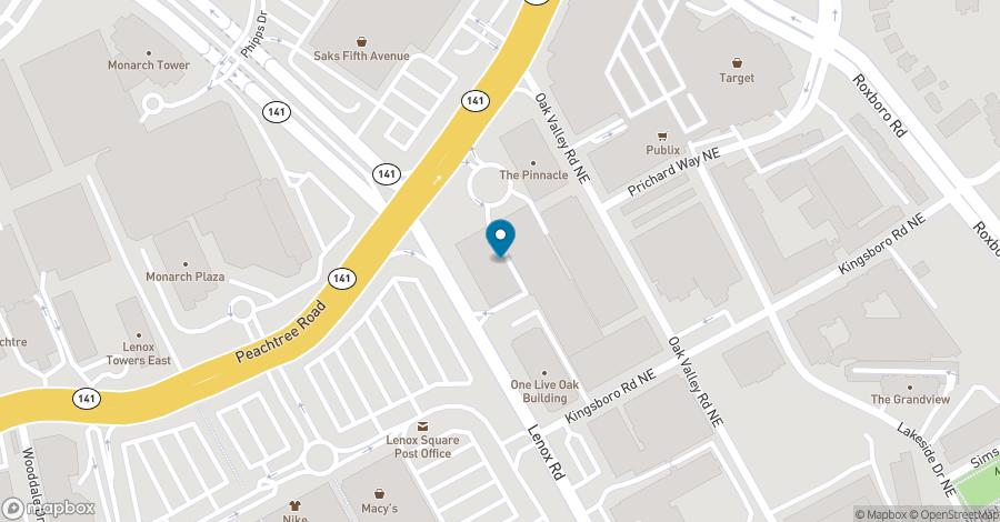 Map of 3455 Peachtree Road NE in Atlanta